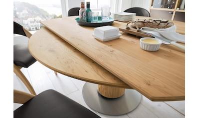 VENJAKOB Esstisch »ET 207«, rund mit Querauszug und runder Bodenplatte kaufen