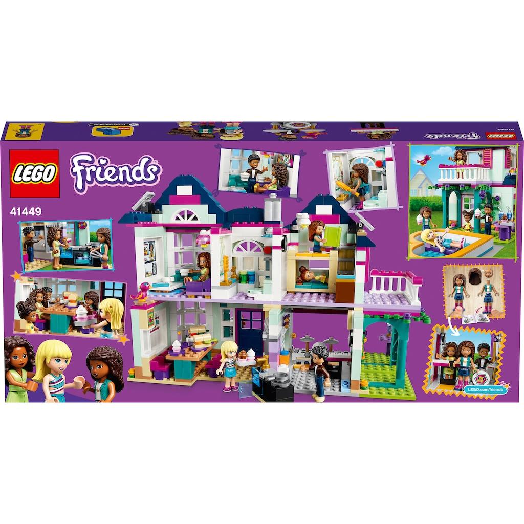 LEGO® Konstruktionsspielsteine »Andreas Haus (41449), LEGO® Friends«, (802 St.), Made in Europe