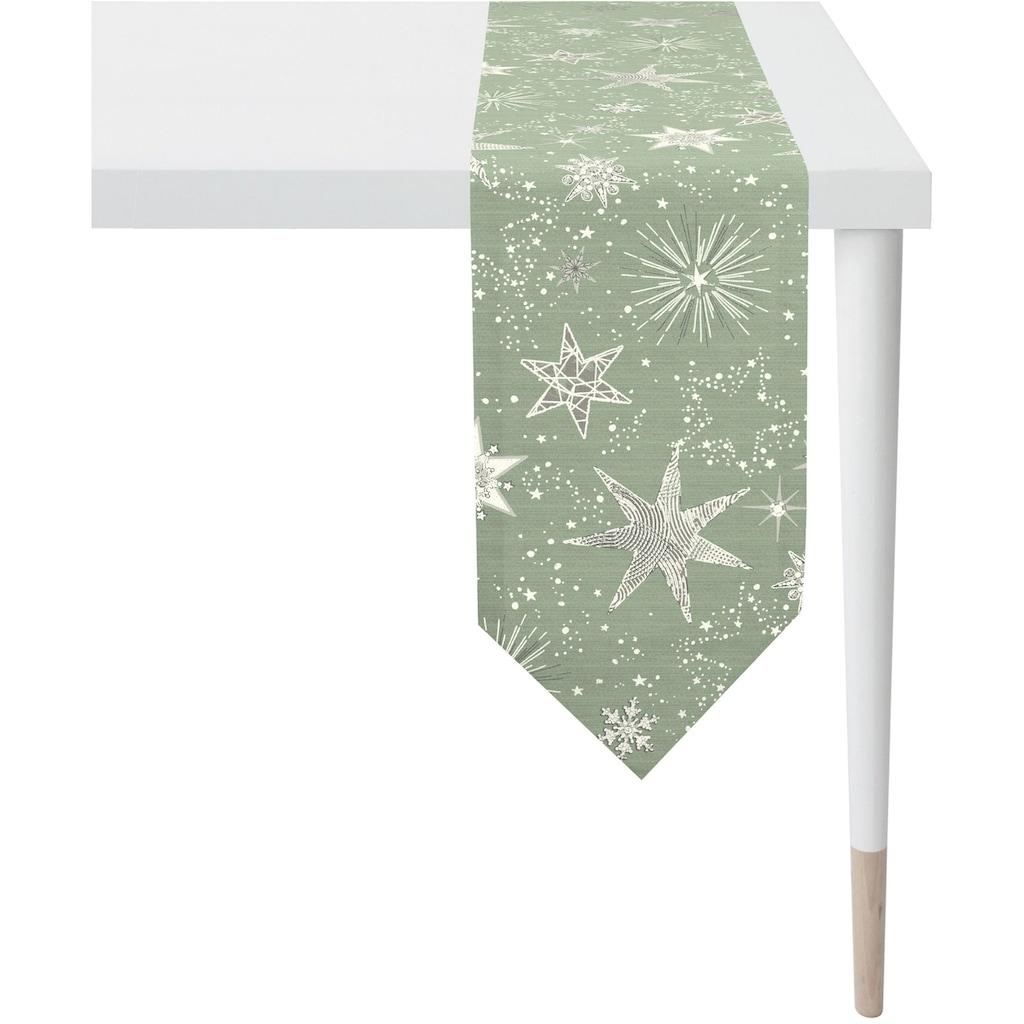 APELT Tischband »3624 Christmas Elegance, Jacquardgewebe«, (1 St.), mit glänzenden Fäden