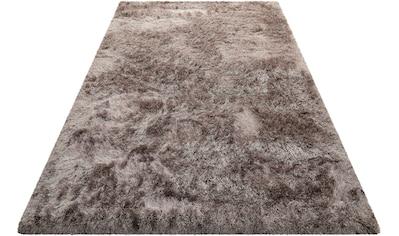 Hochflor - Teppich, »Bella«, Wecon home Basics, rund, Höhe 70 mm, maschinell gewebt kaufen