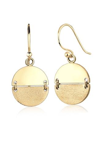 Elli Paar Ohrhänger »Geo Look Kreis Ohrhänger Brushed Trend 925 Silber« kaufen