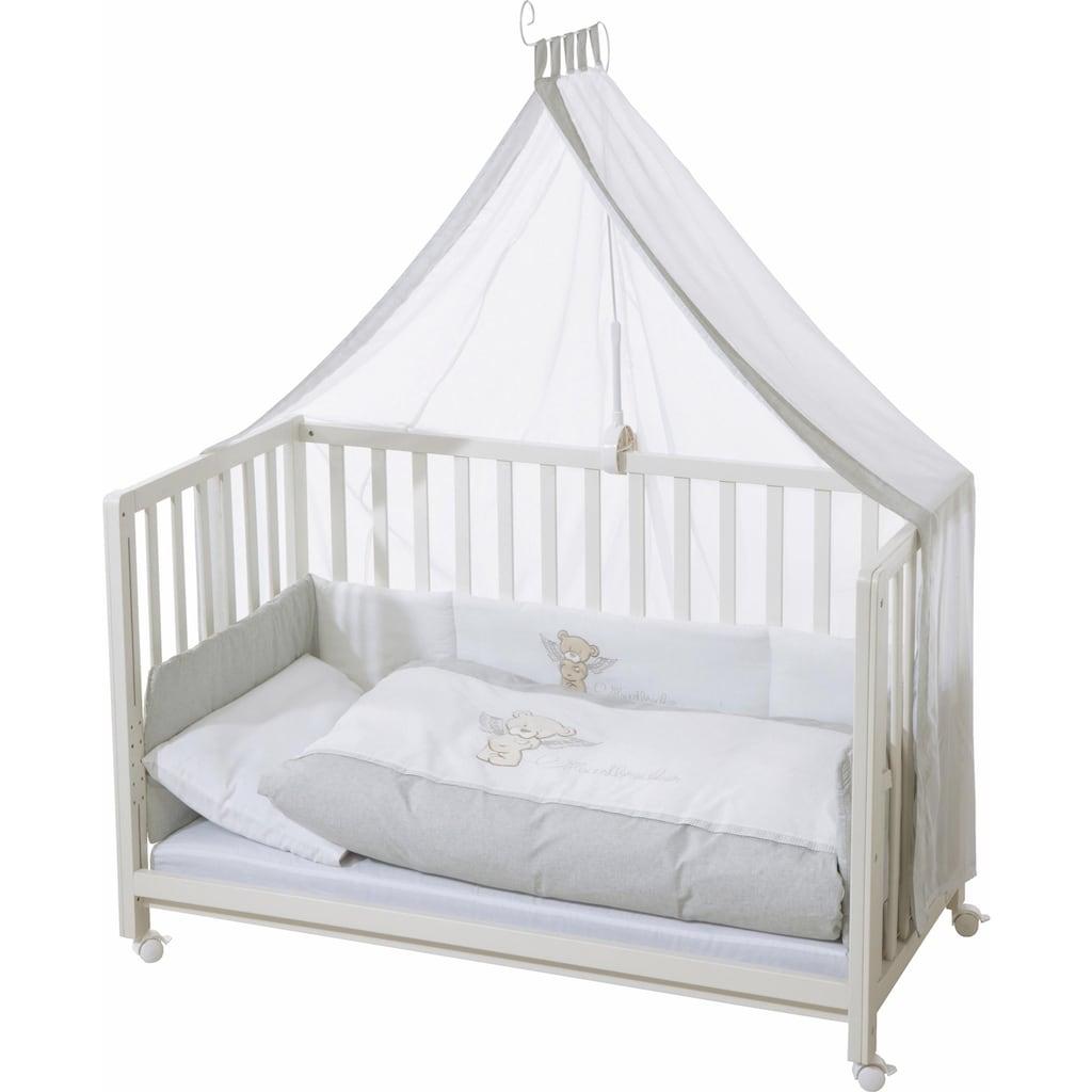 roba® Babybett »Room bed - Dekor Heartbreaker«, als Beistell-, Kinder- und Juniorbett verwendbar