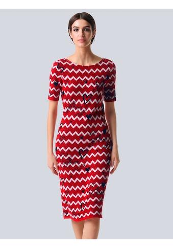Alba Moda Strickkleid, mit Zick-Zack-Muster kaufen