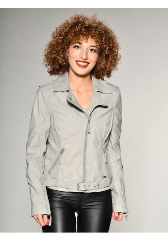 MUSTANG Lederjacke mit Hemdkragen »Malila« kaufen
