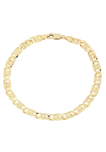 Firetti Goldarmband »Achter-Rebhuhn-Plättchenkettengliederung, 5,5 mm breit, 6-fach diamantiert, konkav« kaufen