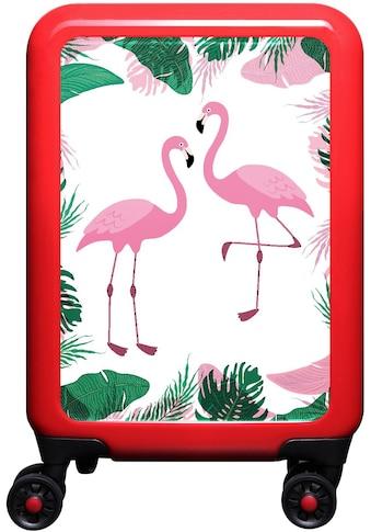 """meinTrolley Hartschalen - Trolley """"Flamingo im Dschungel"""", 4 Rollen kaufen"""