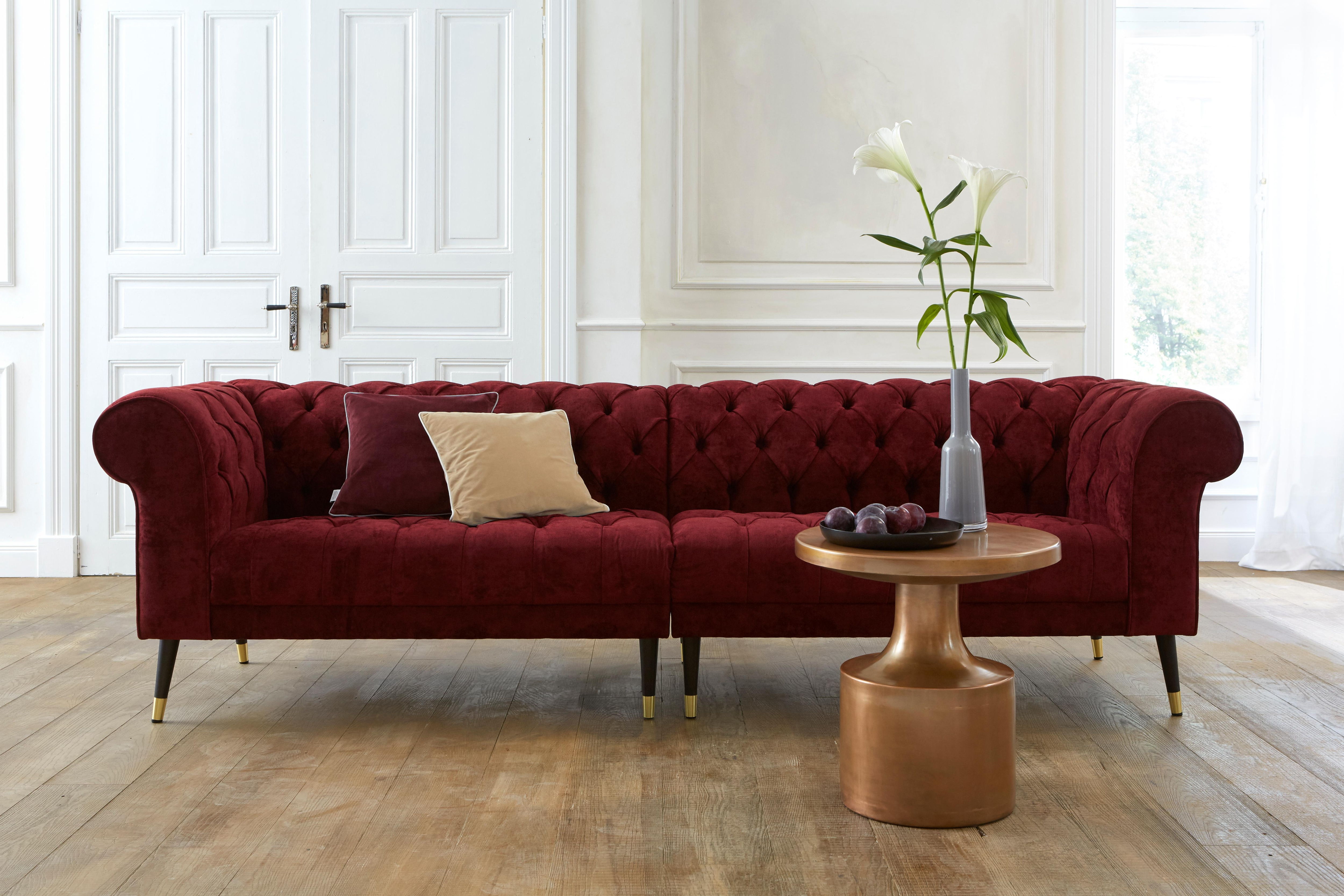 GMK Home & Living Chesterfield Big-Sofa »Tinnum« | Wohnzimmer > Sofas & Couches > Chesterfield Sofas | Kunststoff - Microfaser | GUIDO MARIA KRETSCHMER HOME & LIVING