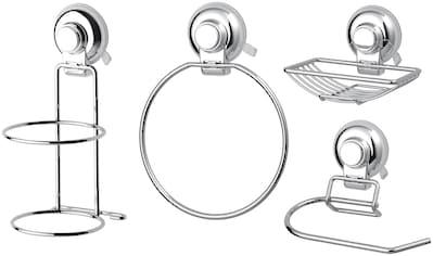 Badaccessoires - Sets »HOOKIE System® 4 - teilig«, mit Handtuch - , Toilettenpapier - , Haartrocknerhalter kaufen