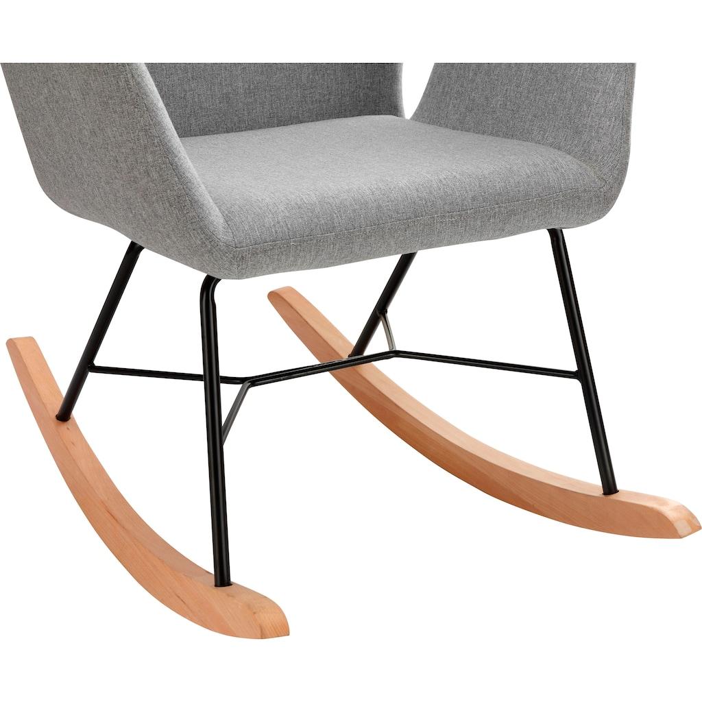 andas Schaukelsessel »Cobo«, wählbar zwischen zwei schönen pflegeleichten Bezugsstoffen, in drei unterschiedlichen Farbvarianten, Sitzhöhe 47 cm