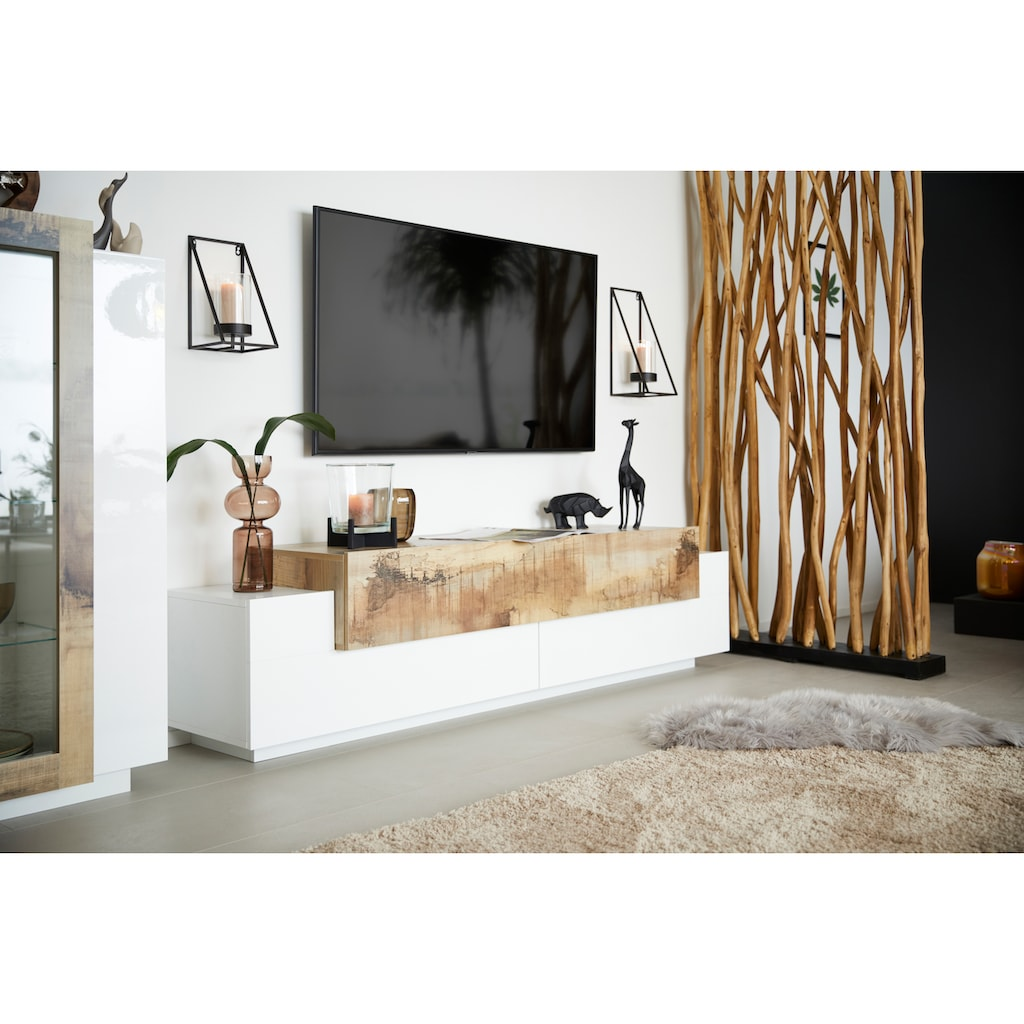 SIT Raumteiler »Romanteaka«, aus recyceltem Teakholz, Shabby Chic, Vintage, 100x200 cm