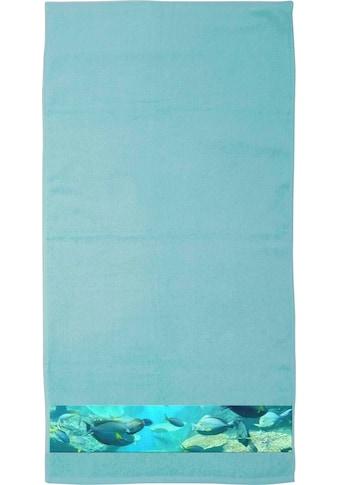 """Castell Handtücher »Franka«, (4 St.), mit Digitaldruckbordüre """"Fische"""" kaufen"""