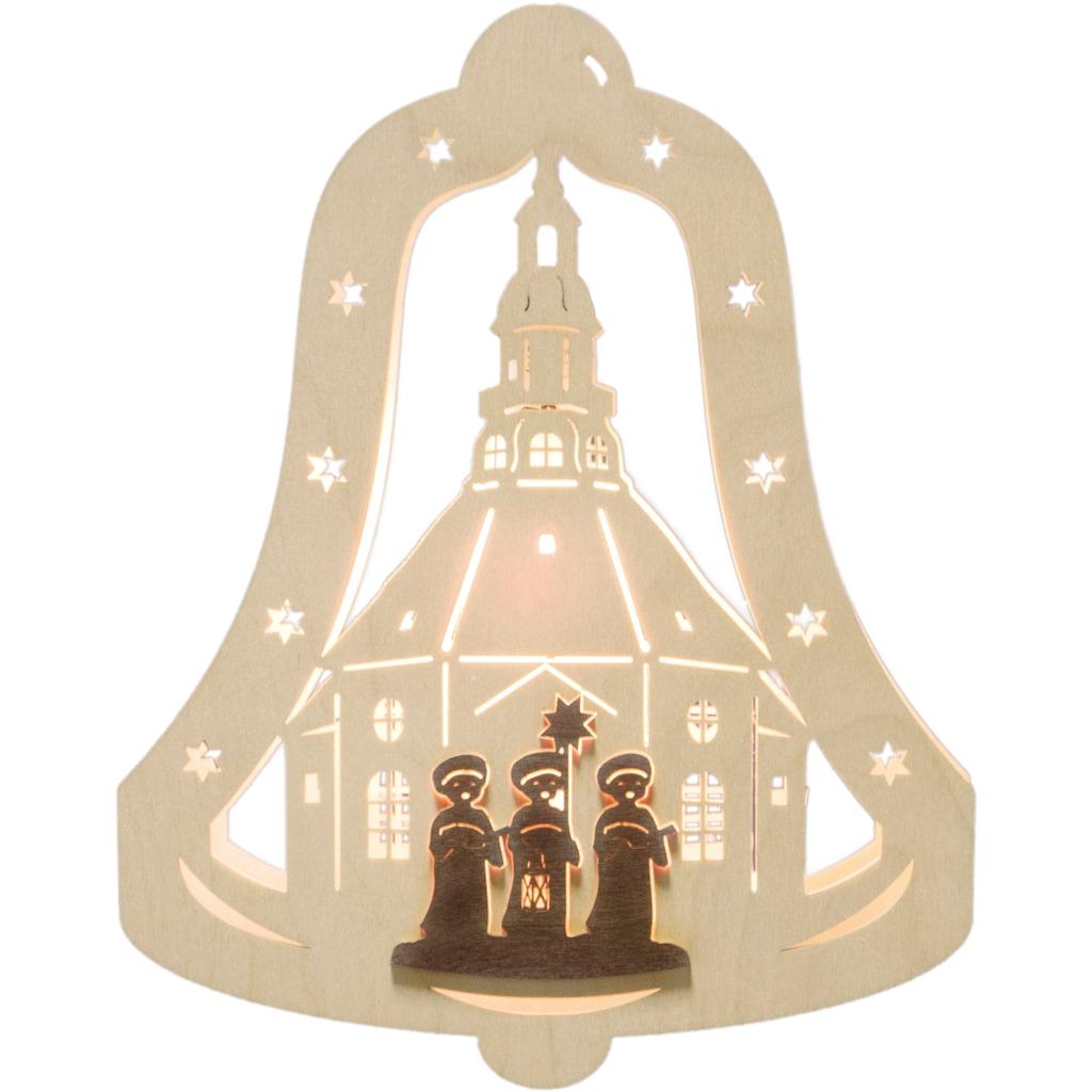 Weigla Beleuchtetes Fensterbild »Kurrendesänger«, Motiv eingerahmt in Glocke