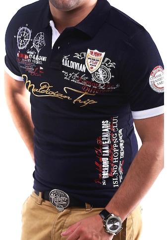 behype Poloshirt »TRIP« kaufen