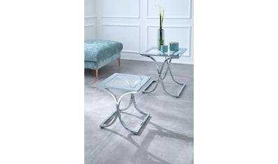 Guido Maria Kretschmer Home&Living Satztisch »Ballum«, mit edlem Metallgestell und Glasplatte kaufen