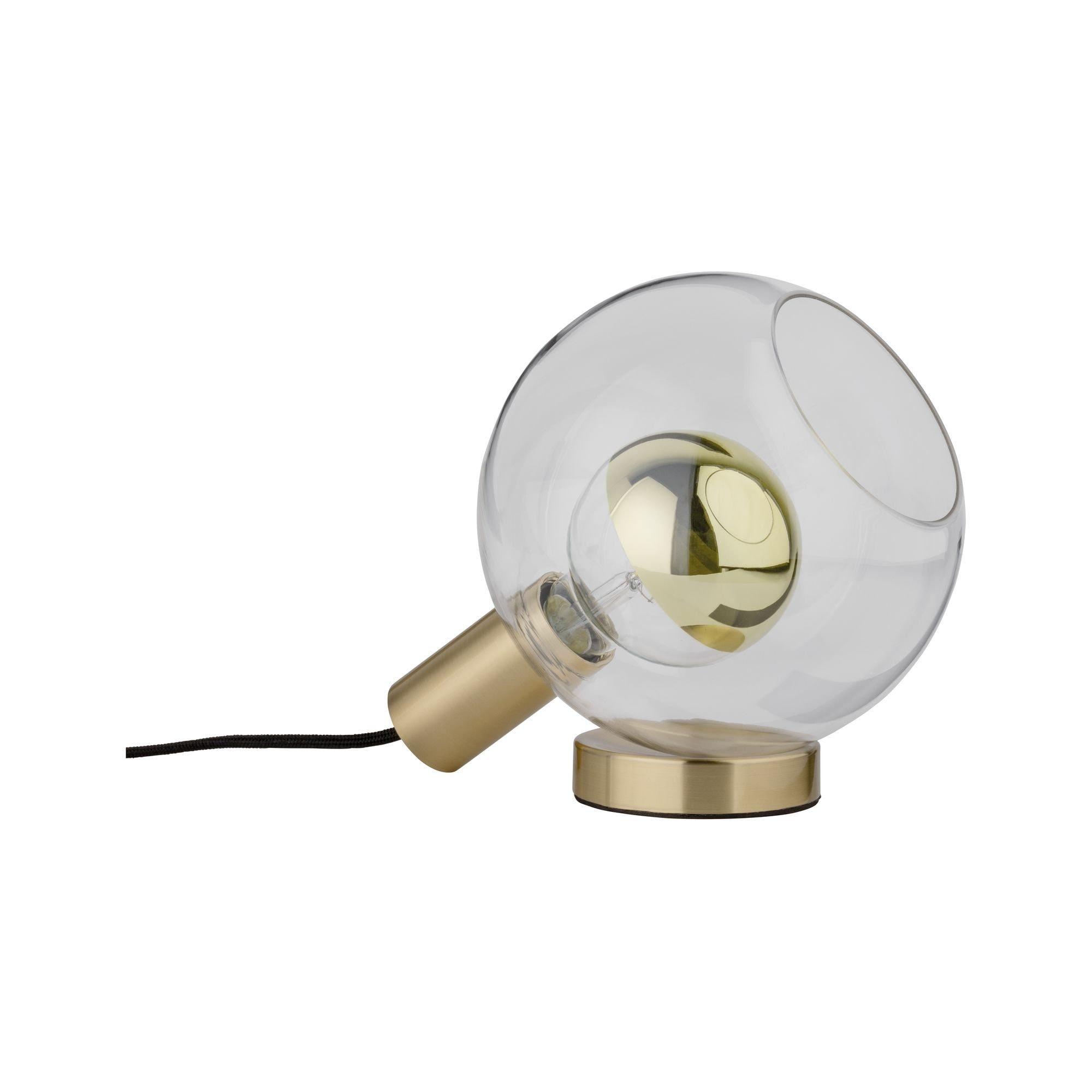 Paulmann,LED Tischleuchte Esben Klarglas/Messing gebürstet max. 20W E27