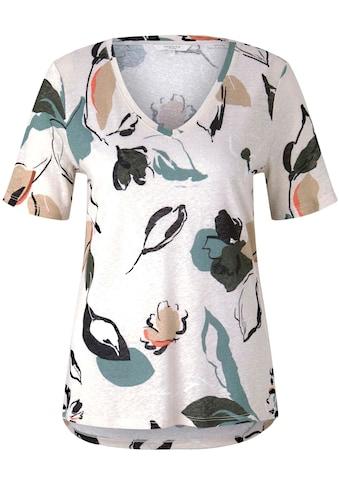TOM TAILOR mine to five T-Shirt, mit V-Ausschnitt und Blumenmuster kaufen