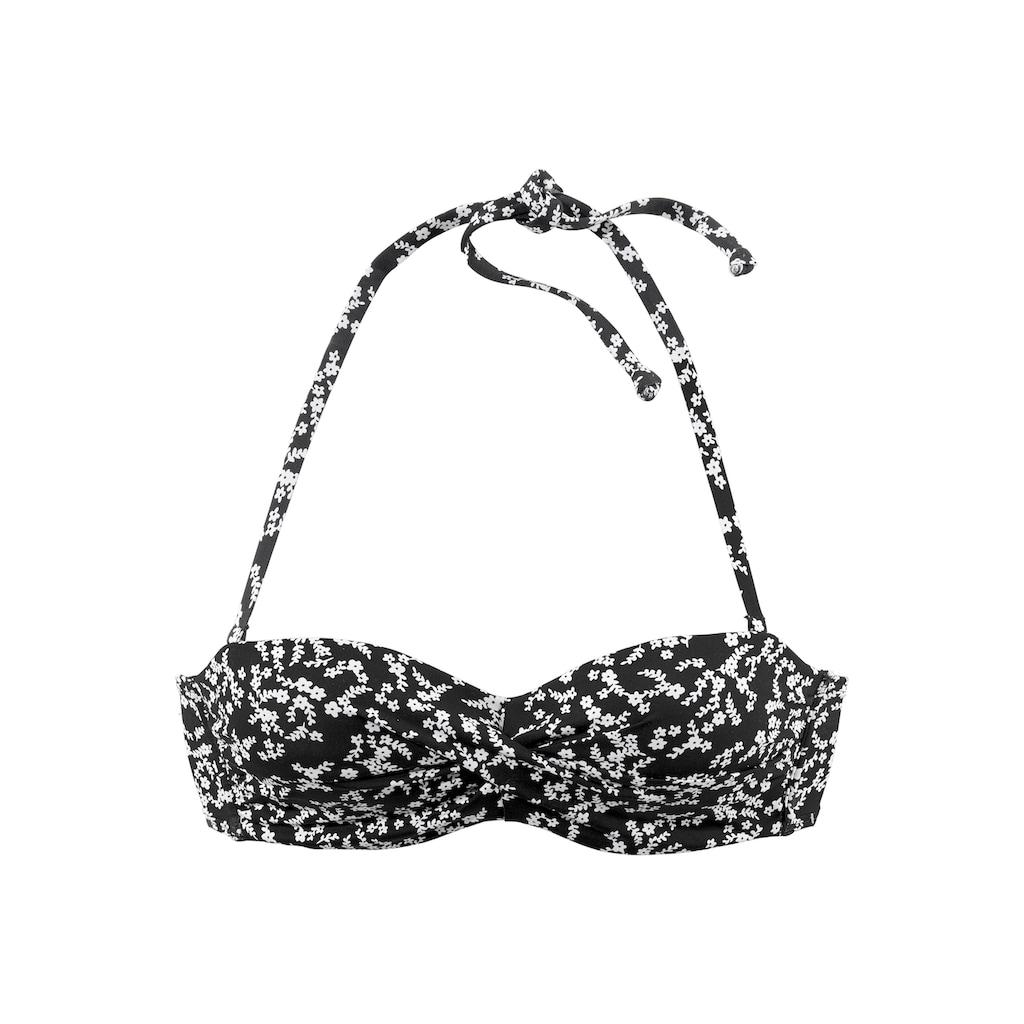 LASCANA Bügel-Bandeau-Bikini-Top »Meadow«