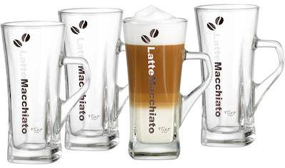 Ritzenhoff & Breker Latte-Macchiato-Glas »Crema«, (Set, 4 tlg., 4 Latte Macchiato Gläser mit Henkel, je 330 ml), hitzebeständiges Glas, 330 ml kaufen
