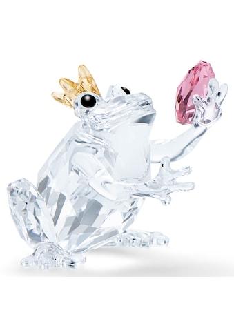 Swarovski Dekofigur »Froschprinz, 5492224«, Swarovski® Kristall mit schwarzem Emaille kaufen