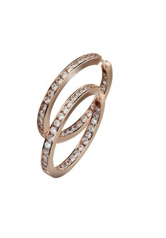 CELESTA Klappcreolen »925/ -  Sterling Silber rosévergoldet Zirkonia« kaufen