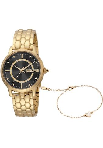 Just Cavalli Time Quarzuhr »Emozioni, JC1L149M0055«, (Set, 2 tlg., 2teiliges Set - Uhr... kaufen