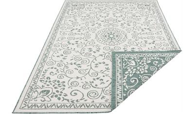 bougari Teppich »LEYTE«, rechteckig, 5 mm Höhe, In- und Outdoor geeignet, Wendeteppich, Wohnzimmer kaufen