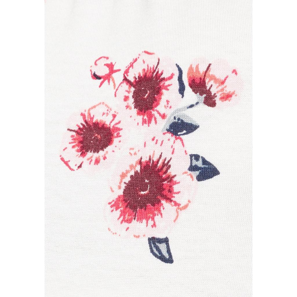 Neun Monate Umstandsshirt »Powered by Flashlights«, mit Allover-Blumenmuster