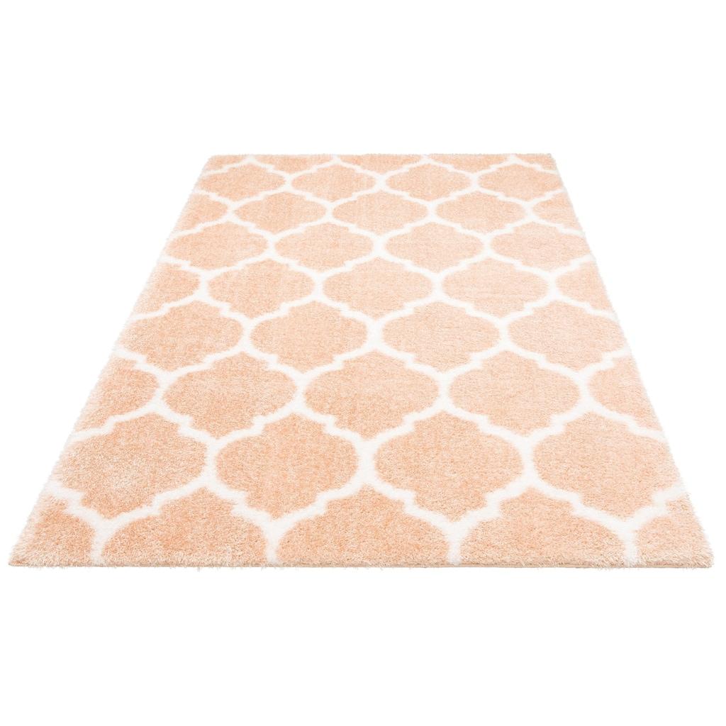 Leonique Hochflor-Teppich »Soraya«, rechteckig, 40 mm Höhe, Pastelfarben, Wohnzimmer