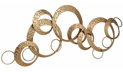 Leonique Wanddekoobjekt »Kreise«, Wanddeko, aus Metall kaufen