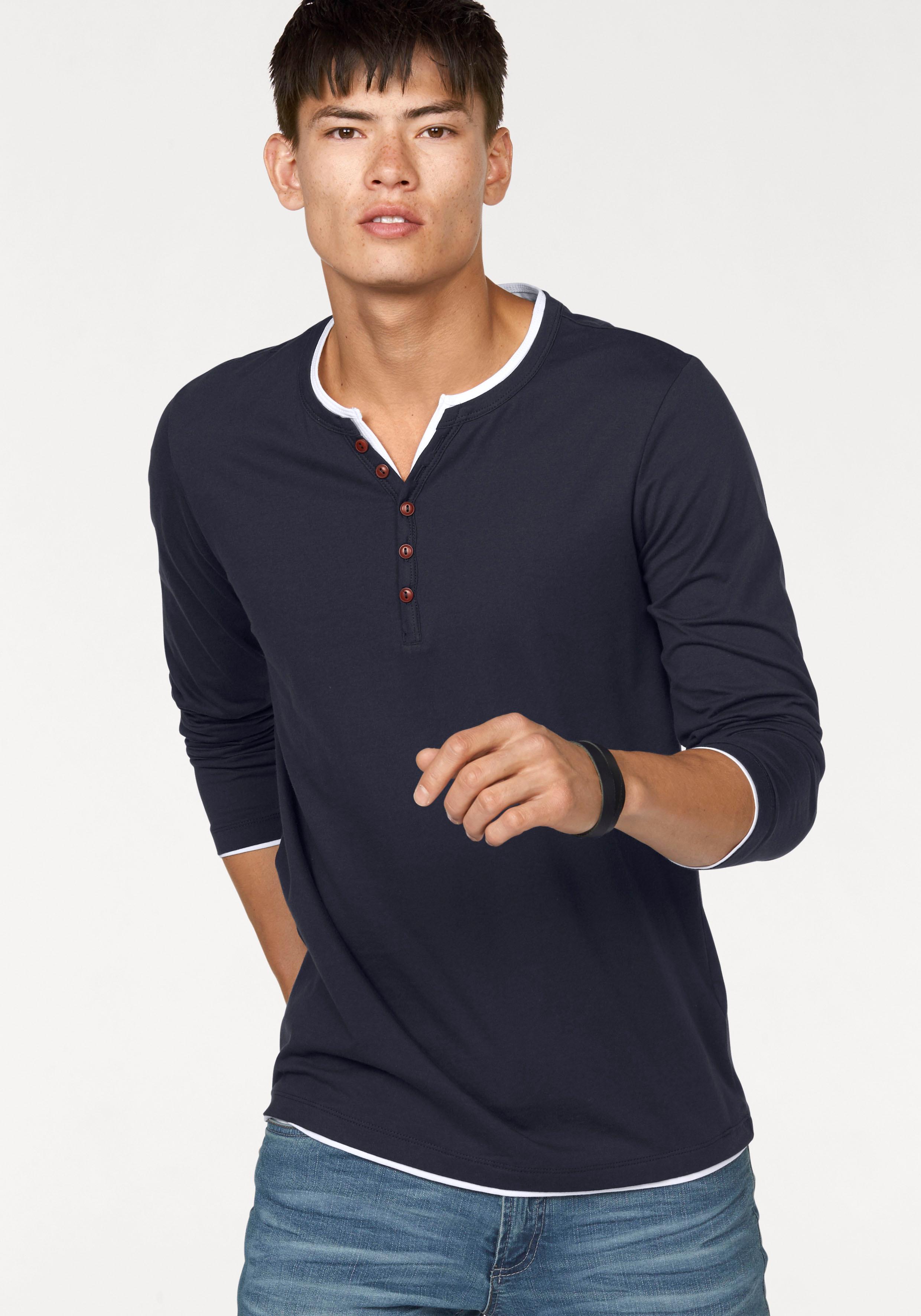 John Devin Langarmshirt | Bekleidung > Shirts > Langarm Shirts | Blau | Jersey | John Devin
