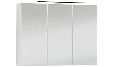 FACKELMANN Spiegelschrank »Vedea«, weiß, Breite 90 cm, 3 Türen, mit beleuchtetem Unterboden kaufen