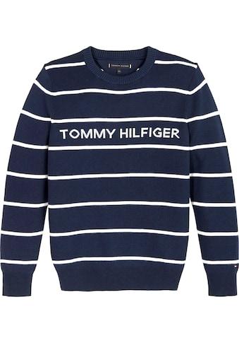 TOMMY HILFIGER Streifenpullover »HILFIGER STRIPE SWEATER« kaufen
