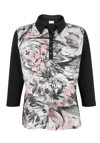 Mona Poloshirt, mit platziertem Blumendruck kaufen