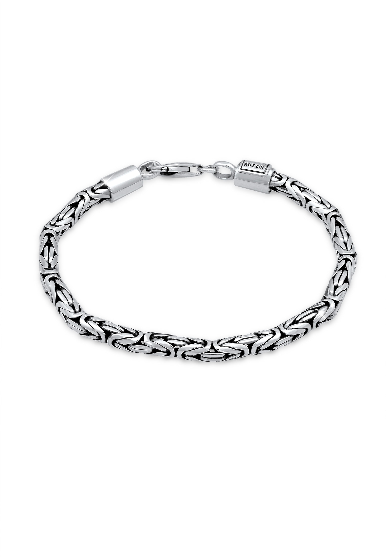 Kuzzoi Armband Herren Königskette Oxidiert 925 Silber | Schmuck > Armbänder > Silberarmbänder | Kuzzoi
