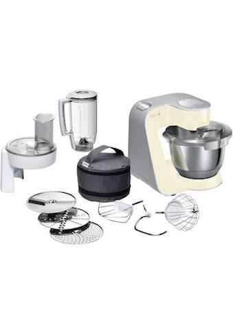 BOSCH Küchenmaschine »MUM5 CreationLine MUM58920«, vielseitig einsetzbar, Durchlaufschnitzler, 3 Reibescheiben Mixer, vanille/silber kaufen