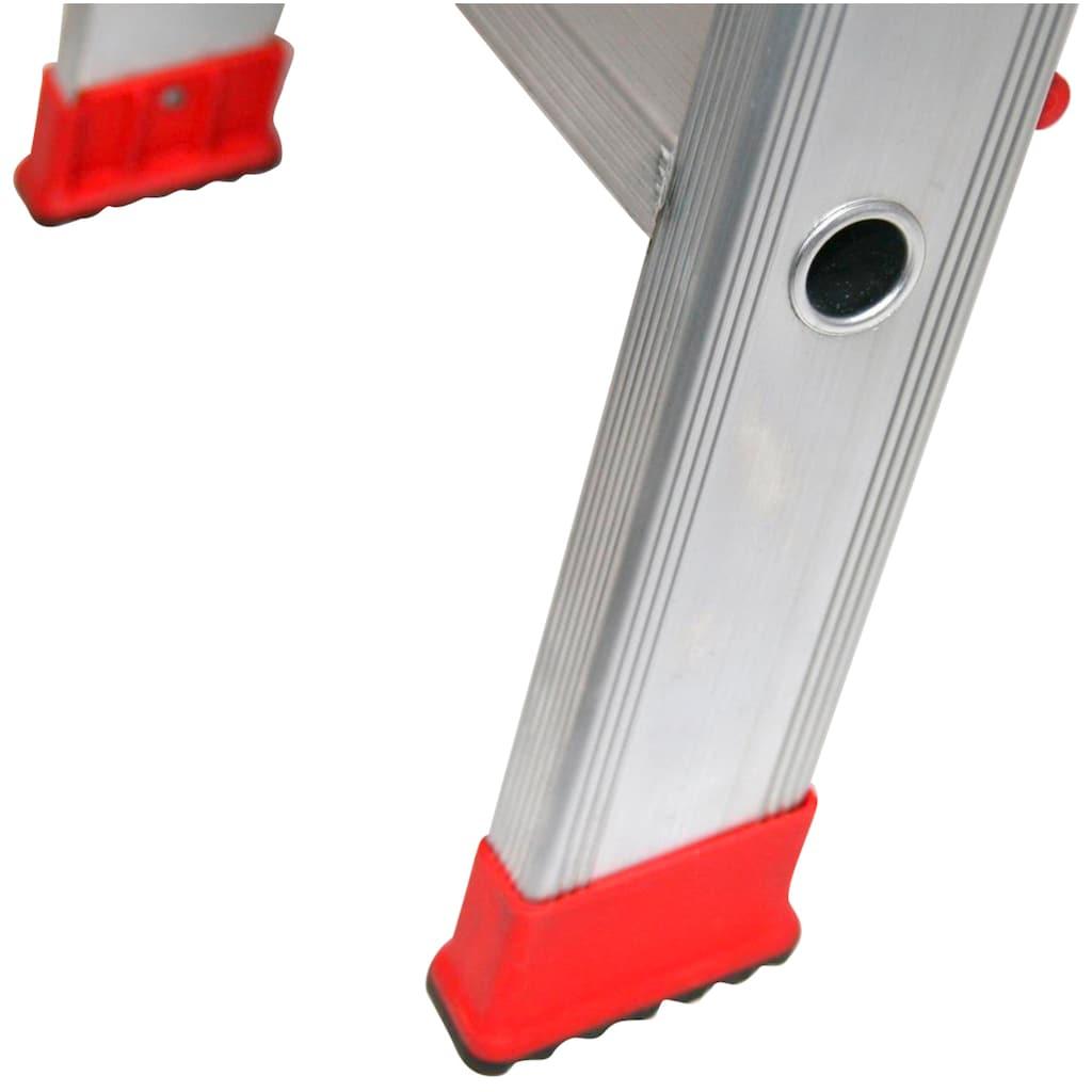SZ METALL Stehleiter, Aluminium, 2,75 m, 3-stufig