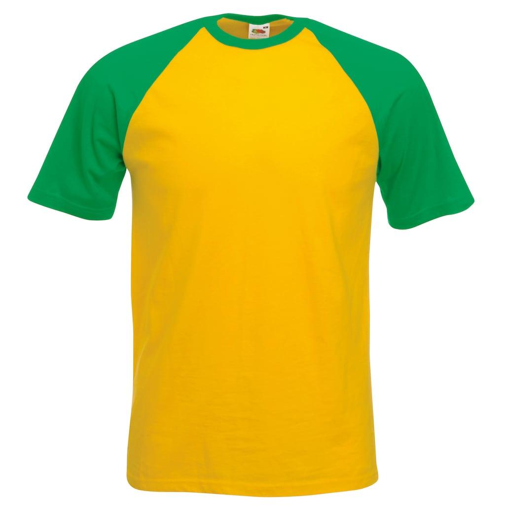 Fruit of the Loom T-Shirt »Herren Baseball, kurzärmlig«