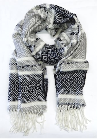 Chaplino Schal, mit stylischem Ethno-Muster kaufen