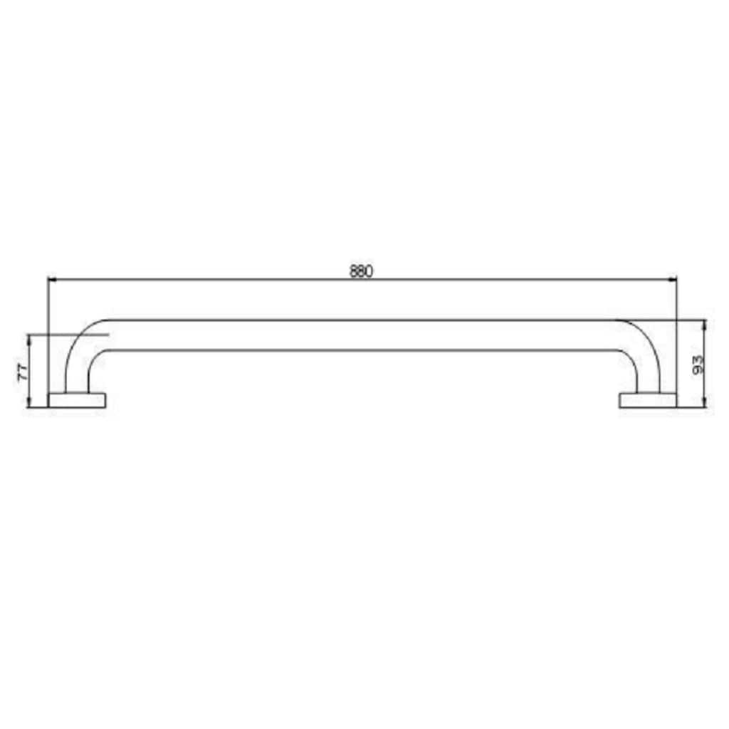 Provex Wandgriff »Serie 250«, belastbar bis 120 kg, in weiß
