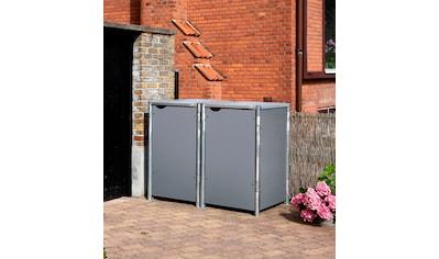 Hide Mülltonnenbox, für 2 x 240 l, grau kaufen
