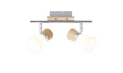 Brilliant Leuchten Deckenleuchten, E14, Nacolla Spotrohr 2flg holz hell/chrom/weiß kaufen