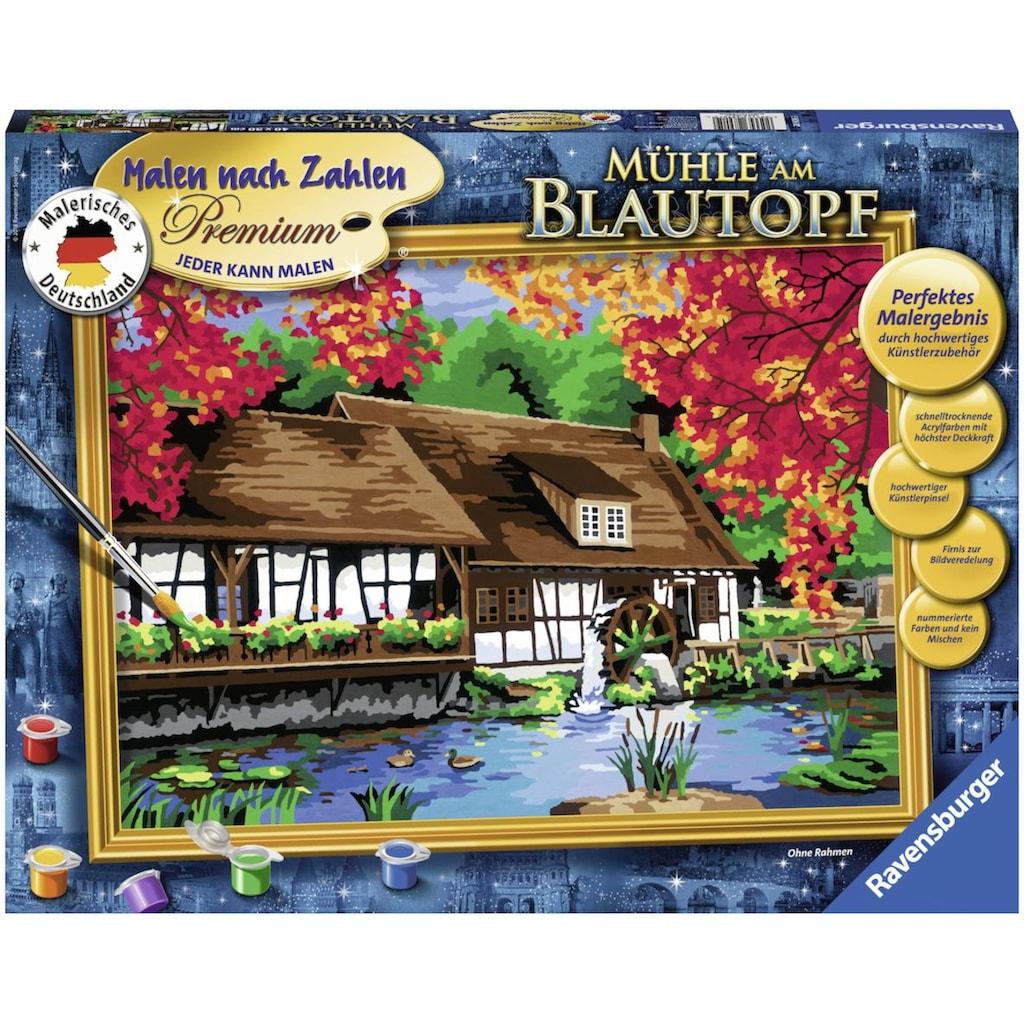 Ravensburger Malen nach Zahlen »Mühle am Blautopf«, Made in Europe, FSC® - schützt Wald - weltweit