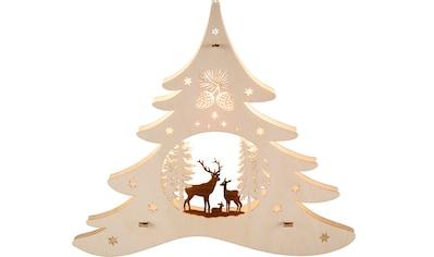 Weigla Beleuchtetes Fensterbild, »Tannenbaum  -  Waldmotiv«, (1 - tlg.) kaufen
