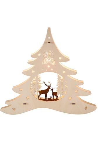 Weigla Beleuchtetes Fensterbild »Tannenbaum - Waldmotiv« kaufen