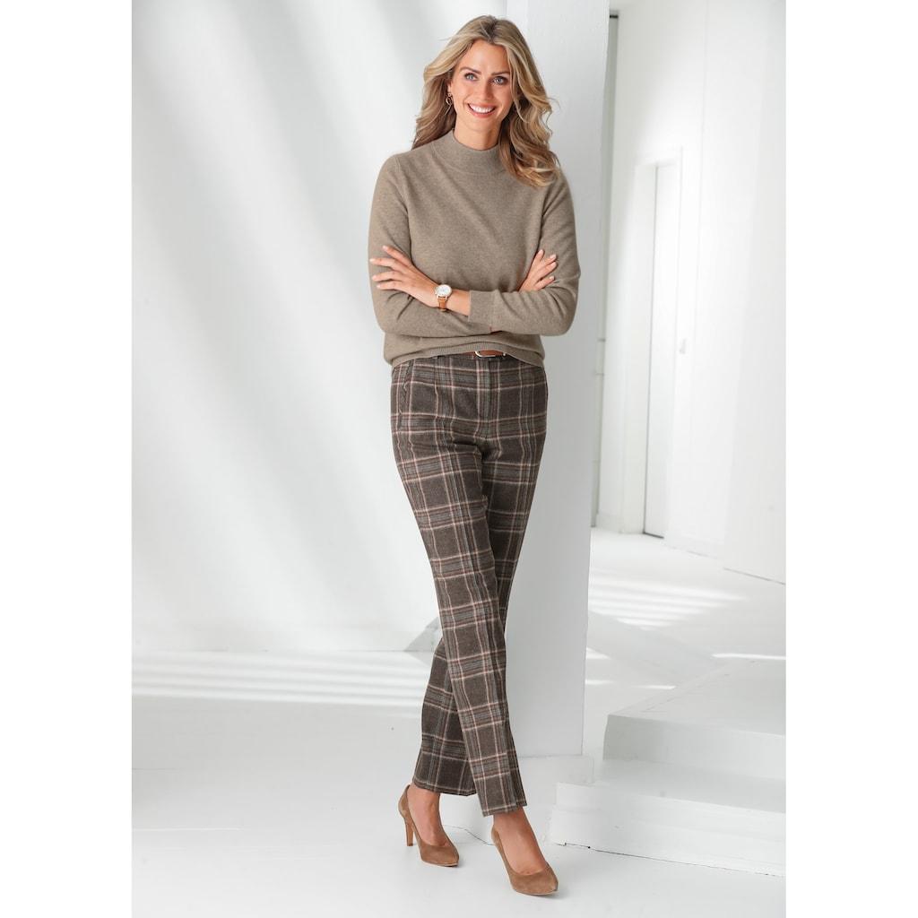 Mona Kaschmir-Pullover mit Stehkragen