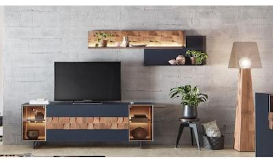 LEONARDO Wohnzimmer-Set »LIV«, (4 St.), Massivholzkacheln enthalten, mit Wandpaneel,... kaufen