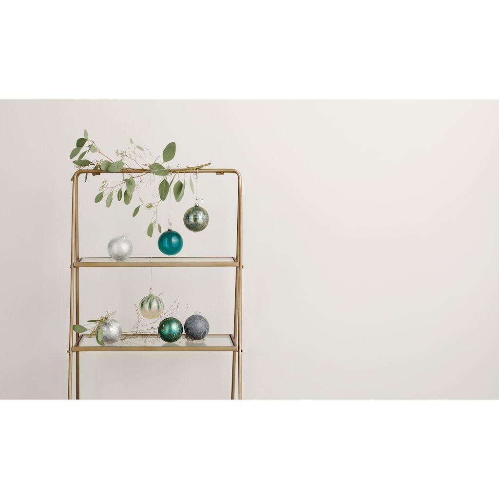 LeGer Home by Lena Gercke Weihnachtsbaumkugel »Mireia«, (Set, 6 St.), Ø ca. 8 cm in der Farbkombination Grün/Gold