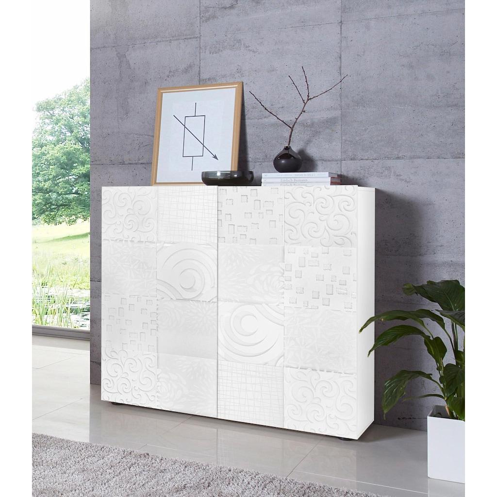 LC Highboard »Miro«, Breite 121 cm mit dekorativem Siebdruck