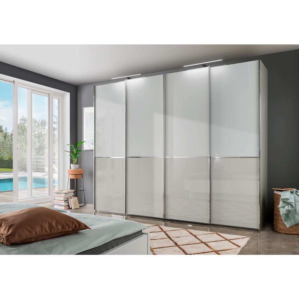 WIEMANN Schwebetürenschrank »Shanghai«, mit Panorama-Tür und Glasfront
