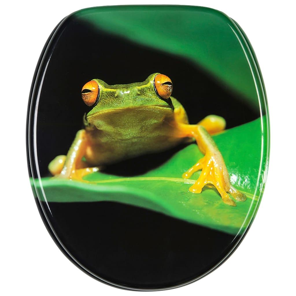 Sanilo WC-Sitz »Frosch Grün«, mit Absenkautomatik